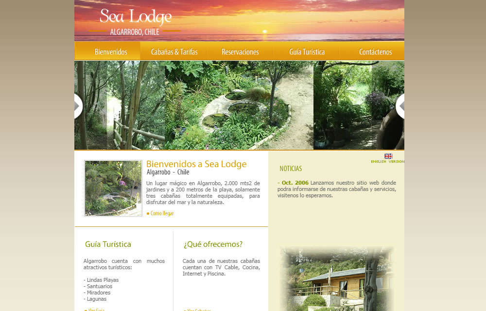 Sitio Web Sea Lodge